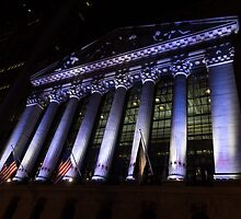 Big Money - New York Stock Exchange in Purple by Georgia Mizuleva