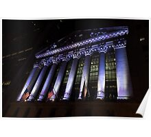 Big Money - New York Stock Exchange in Purple Poster