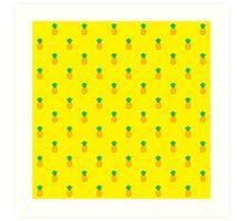 Pineapple Pattern Art Print