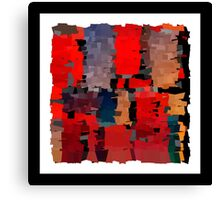 Modern abstract art bright blots and splashes Canvas Print