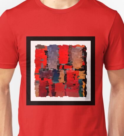 Modern red Christmas illustration abstract art bright blots and splashes Unisex T-Shirt