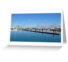 Harbor from Cyprus Greeting Card
