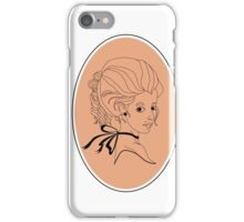 Lady in Marie-Antoinette style  iPhone Case/Skin