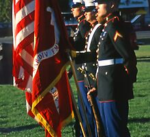 Marine Honor Guard by SteveOhlsen