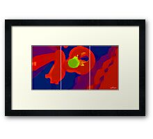 RED SCREEN(triptych) Framed Print