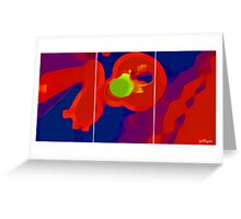 RED SCREEN(triptych) Greeting Card