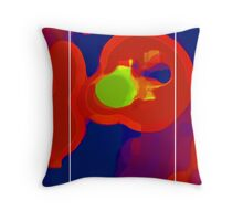 RED SCREEN(triptych) Throw Pillow