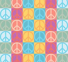 Peace sign pattern by monsterplanet