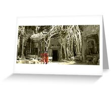 Peace at Ta Prohm  Greeting Card