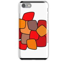 Modern abstract art bright blots and splashes  iPhone Case/Skin