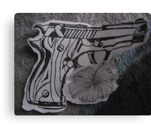 guns n flowers Canvas Print