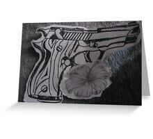 guns n flowers Greeting Card