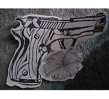 guns n flowers Photographic Print