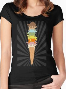 ice crime Women's Fitted Scoop T-Shirt
