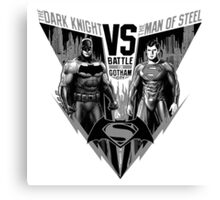 The Dark Knight VS The Man of Steel Canvas Print