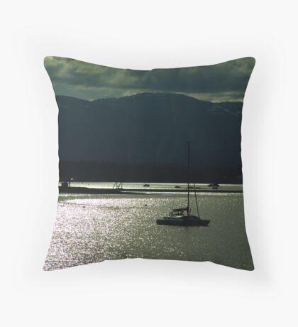 Evening at Comox Throw Pillow
