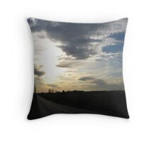 Road Into Shadow Throw Pillow