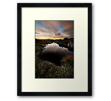 Tarn Shelf Dawn Framed Print