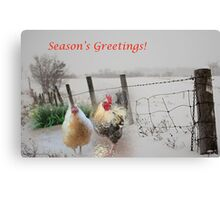 Season's Greetings from my garden! Canvas Print