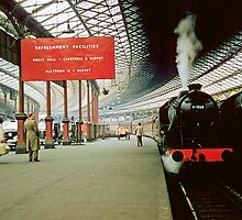 Euston Station for Harrow 19570829 0001 by Fred Mitchell