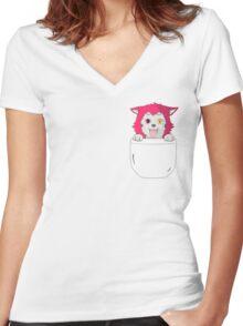 Seijuro Akashi Puppy Women's Fitted V-Neck T-Shirt