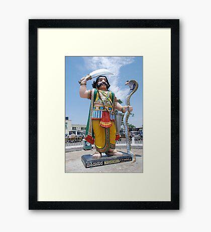 Mahishasura, Mysore, India Framed Print