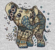 Mandala elephant One Piece - Short Sleeve