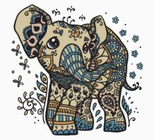 Mandala elephant One Piece - Short Sleeve