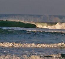 Oceanside, Ca. Rainbows in the wave by Michael Jack