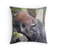 Gorilla Gazing Throw Pillow
