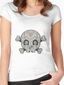 Damask Skull Women's Fitted Scoop T-Shirt
