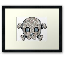 Damask Skull Framed Print