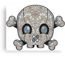 Damask Skull Canvas Print