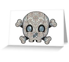 Damask Skull Greeting Card