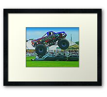 Monster Truck Madness - Surrey County Show - Guildford Framed Print