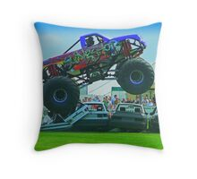 Monster Truck Madness - Surrey County Show - Guildford Throw Pillow