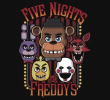 Five Nights At Freddy's Pizzeria Multi-Character One Piece - Long Sleeve