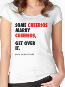 Glee - Some Cheerios Marry Cheerios Women's Fitted Scoop T-Shirt