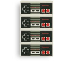 4 Controllers 4 Players - NES Canvas Print