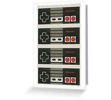 4 Controllers 4 Players - NES Greeting Card
