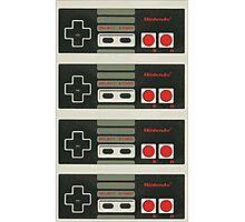 4 Controllers 4 Players - NES Photographic Print