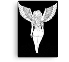 Virgo (Black) Canvas Print
