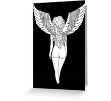 Virgo (Black) Greeting Card