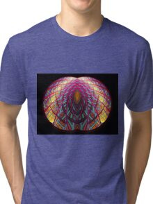 Intimate - Abstract Fractal Artwork Tri-blend T-Shirt
