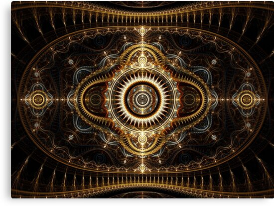 All Seeing Eye - Abstract Fractal Artwork by EliVokounova