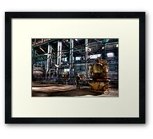 Man and Machine. Framed Print