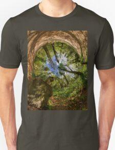 Squirrel Sculpture in Prehen Woods, Derry - Sky In Unisex T-Shirt