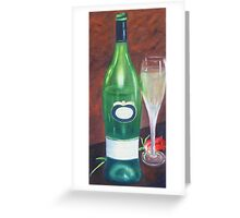 Sauvignon Blanc & Rose Greeting Card