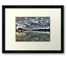 Sunrise on the Murray Framed Print
