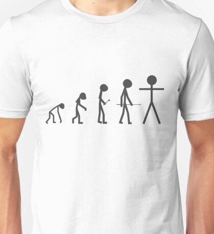 The Evolution of Stickman Unisex T-Shirt
